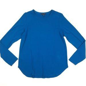 Eileen Fisher viscose long sleeve tee scoop neck